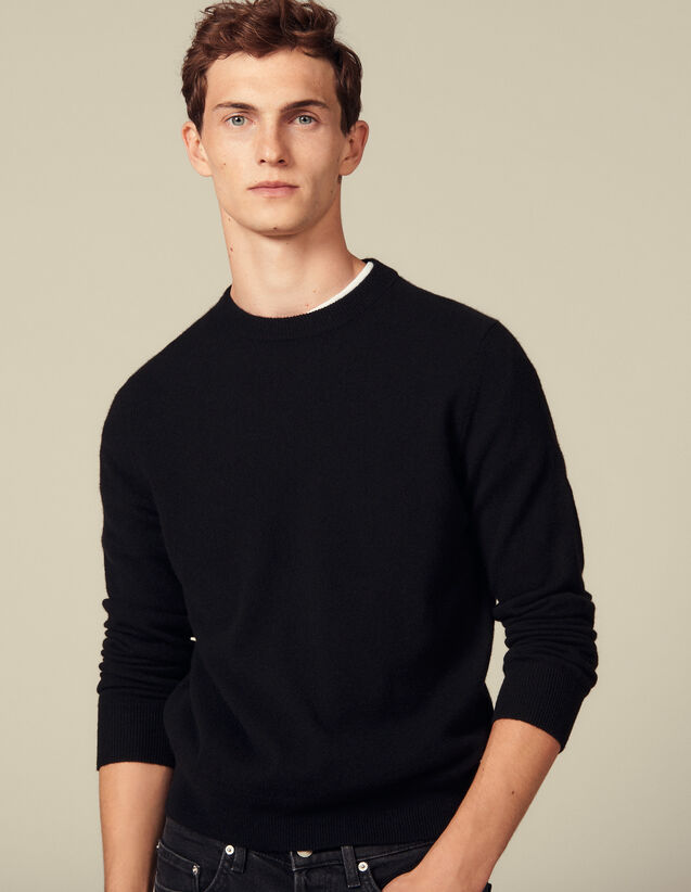 Double thread cashmere : Sweaters color Black