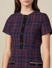 Short tweed dress : Dresses color Multi-Color