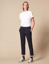 Plain Darted Pants : Essentials color Navy Blue