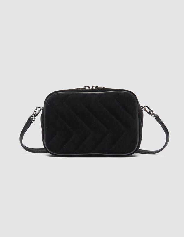 Quilted Velvet Fanny Pack : Bags color Black