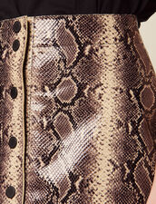 Short Python Print Leather Skirt : Skirts color Python