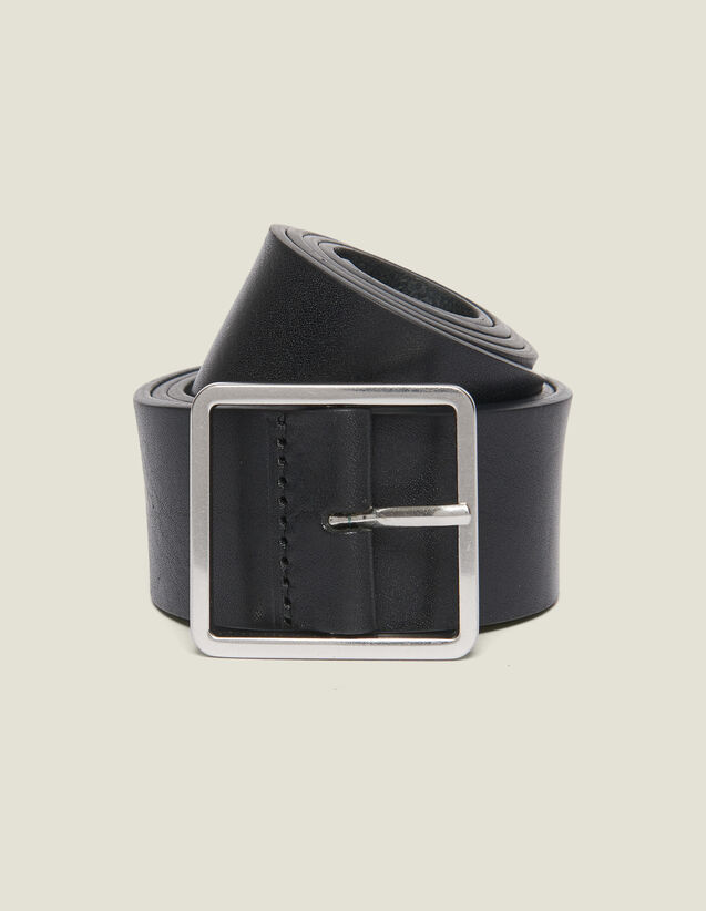 Leather Belt : Leather Goods color Black