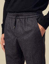 pants with elasticated waist : Pants color Mocked Grey