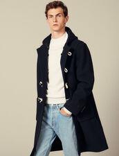 Wool duffle coat : Coats color Navy Blue