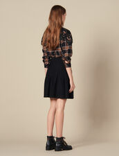 Flared Knit Skirt : Skirts color Black