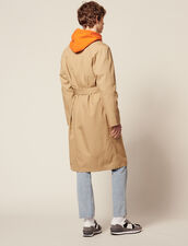 Long Cotton Trench Coat : Coats color Beige