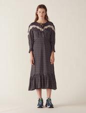 Long Bohemian Print Dress : Dresses color Black