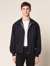 Oversized Harrington-Style Jacket : Coats & Jackets color Navy Blue