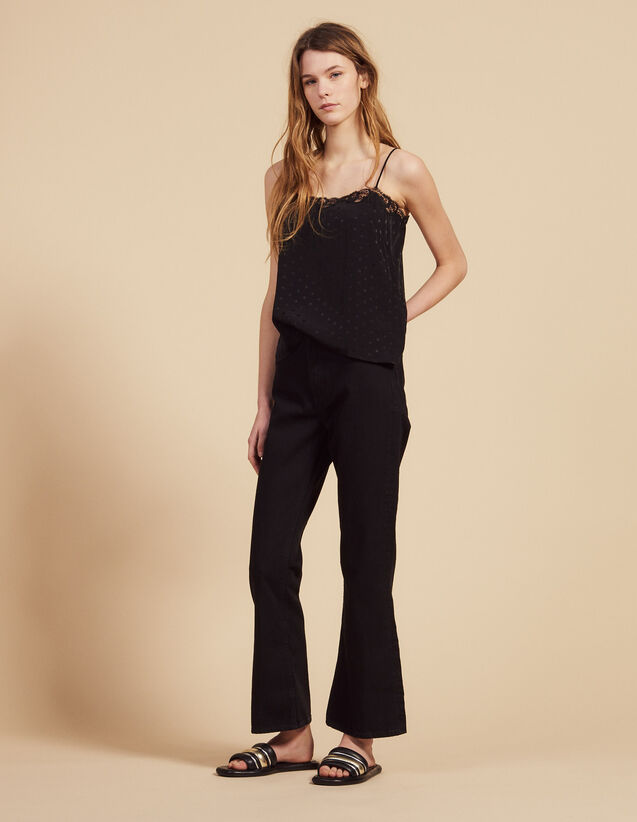 Flared Jeans : Pants & Shorts color Black