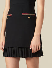 Short dress with decorative trim : Dresses color Black