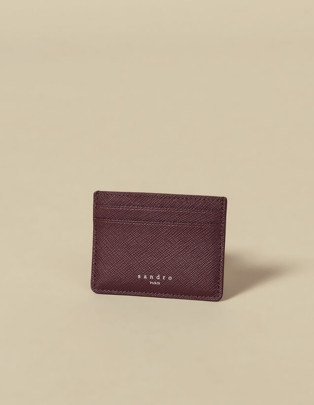 Leather card holder : Spring Pre-Collection color Navy Blue