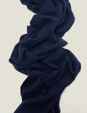 Wool and cashmere scarf : Scarves & Gloves color Navy Blue