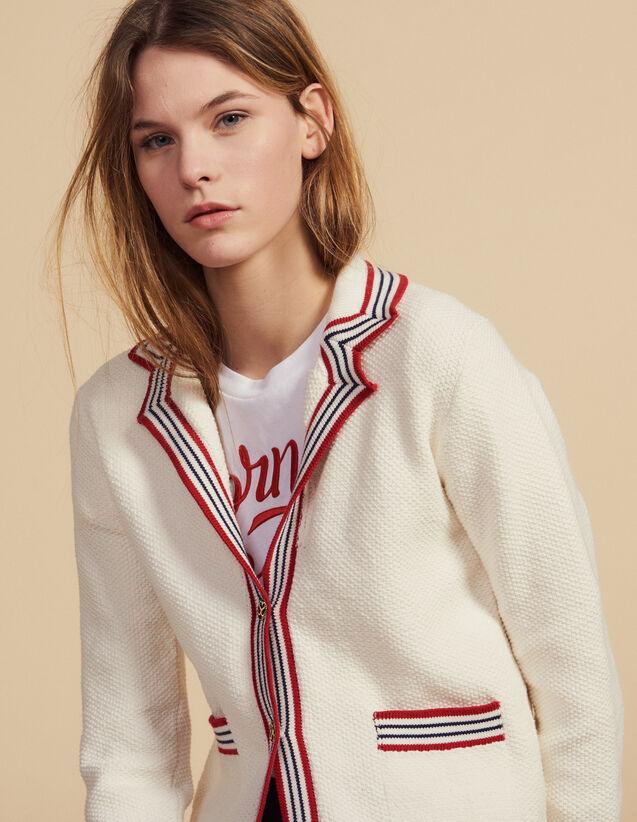 Nautical Style Cardigan : Sweaters color Ecru