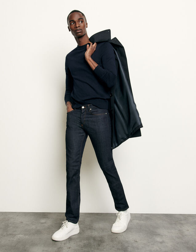Raw jeans - Narrow cut : Spring Pre-Collection color Raw-Denim