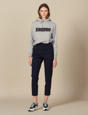 Tapered pants with fall front : Pants & Shorts color Navy Blue