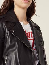 Biker Jacket In Lambskin : Jackets color Black