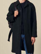 Coat With Belt : Coats color Dark green