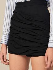 Shorts With Draped Details : Pants & Shorts color Black