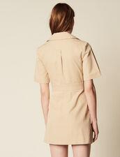 Short Safari-Style Dress : Dresses color Sand