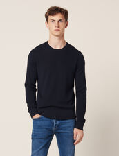 Bioche-stitch sweater : Sweaters color Navy Blue