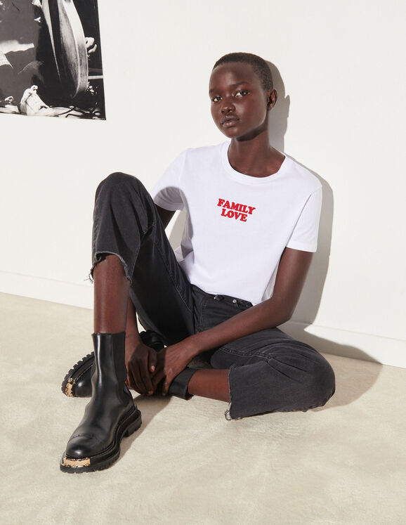 Sandro T-shirt with contrasting text