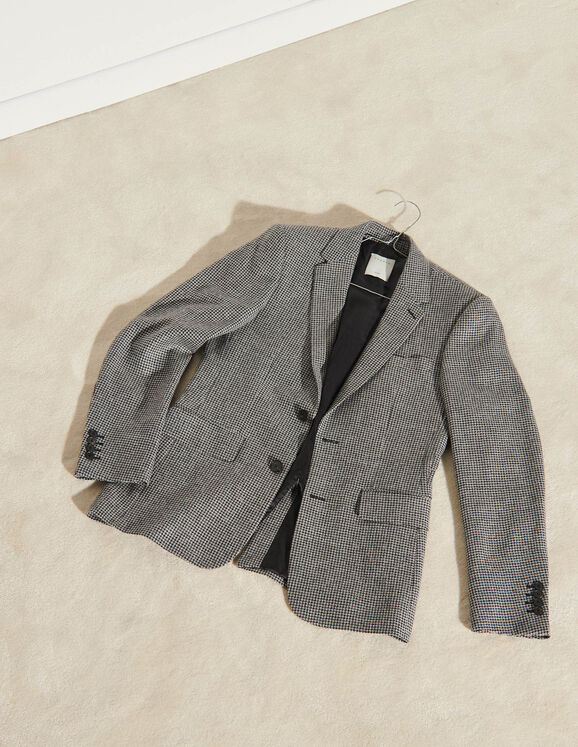 Sandro Houndstooth suit jacket