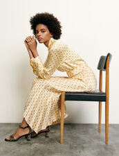 Classic shirt with polka dot print : Spring Pre-Collection color Yellow