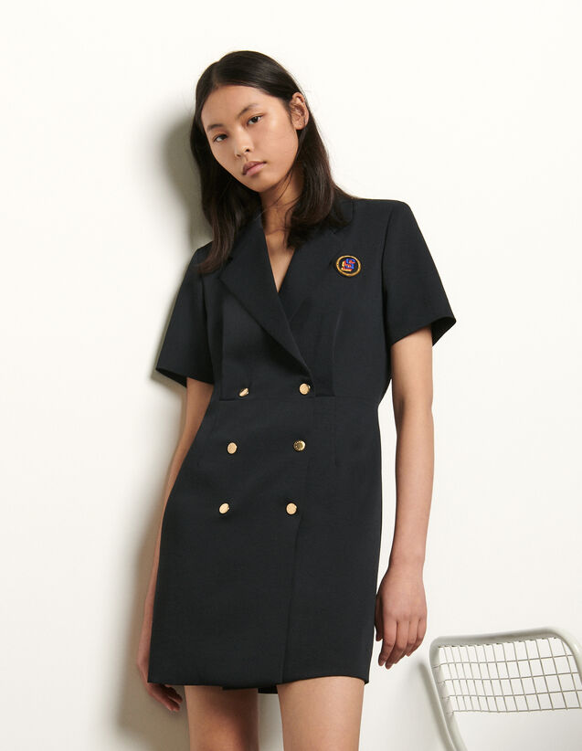 Tailored dress with button fastening : Spring Pre-Collection color Navy Blue
