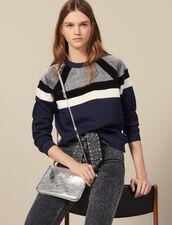 Sweatshirt with stripes : Sweatshirts color Navy Blue