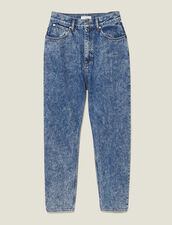 Acid wash jeans : Jeans color Blue Jean
