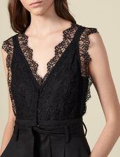 Jumpsuit with lace top : Jumpsuits color Black