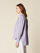 Cotton Shirt With Stripes : Tops & Shirts color Blue