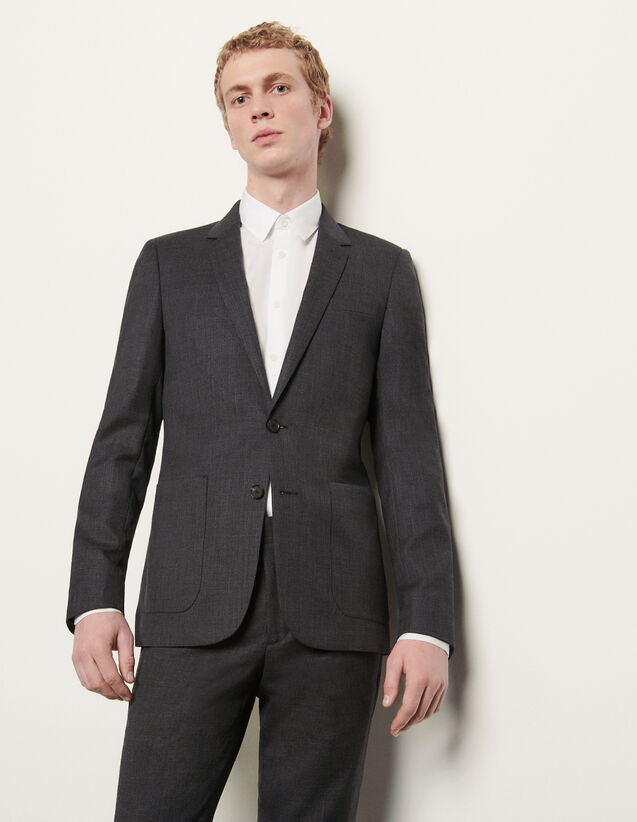 Suit jacket : Spring Pre-Collection color Mocked Grey