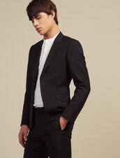 Wool Suit Jacket : Suits & Blazers color Black