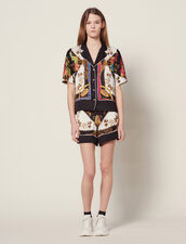 Short-Sleeved Printed Shirt : Tops & Shirts color Multi-Color