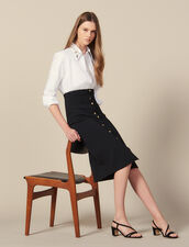 Long, Figure-Hugging Knit Skirt : Skirts color Black
