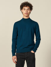 Funnel neck sweater : Sweaters color Dark green