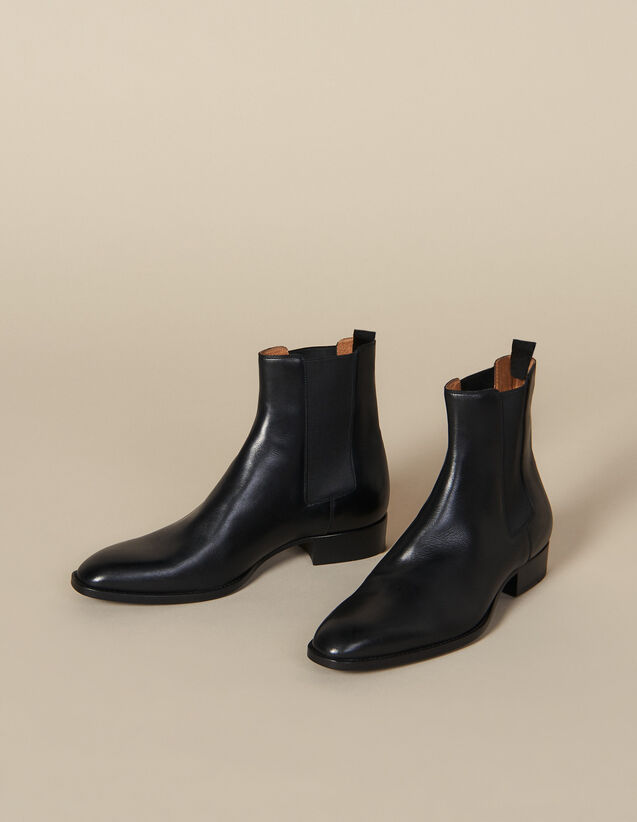 Smooth leather Chelsea boots : Shoes color Black