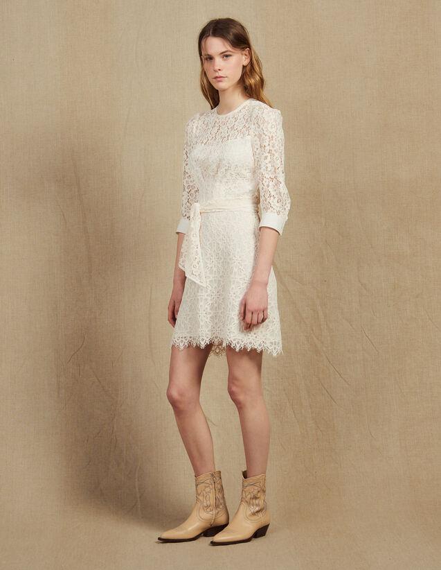 934c71ebf98 Short Lace Dress With Belt : Dresses color Nude