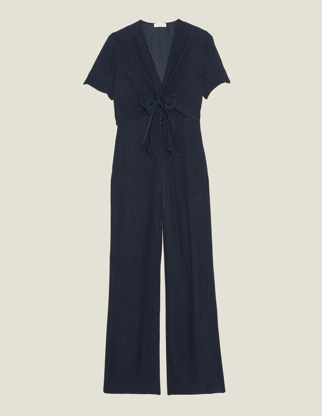 Flowing Jumpsuit : Pants & Shorts color Navy Blue