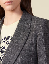 Checked tailored jacket : Jackets color Grey