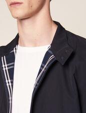 Oversized Harrington-Style Jacket : Coats & Jackets color Navy Blue