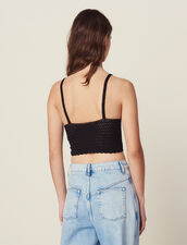 Crochet Crop Top With Narrow Straps : Tops & Shirts color Multi-Color