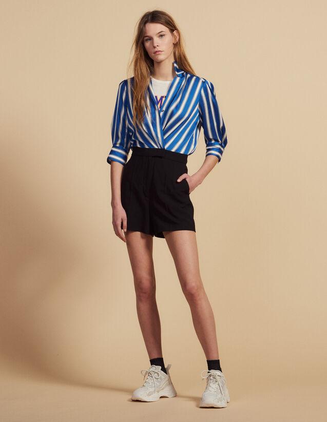 Dual Fabric Playsuit : Pants & Shorts color Blue