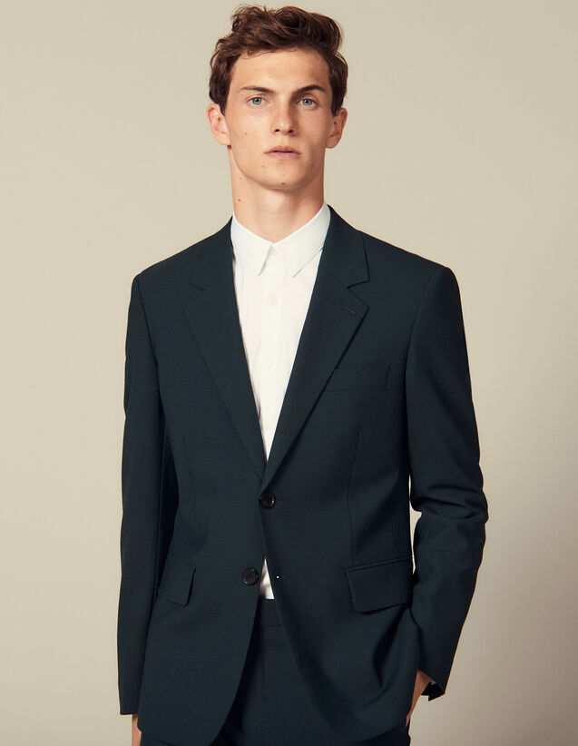 Suit jacket : Suits & Blazers color Dark green