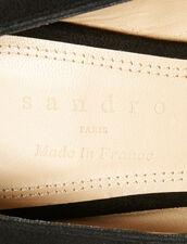 V-Cut Pumps : Shoes color Black
