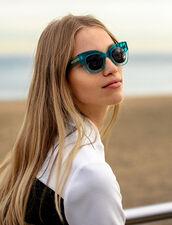 Oversized Sunglasses : Sunglasses color Turquoise Blue