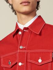 Denim Canvas Jacket : Coats & Jackets color Red