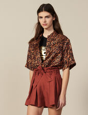Pleated Shorts With Tie Belt : Pants & Shorts color Wine