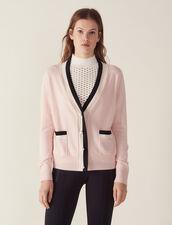 Fine Knit Collegiate Cardigan : Sweaters color Nude